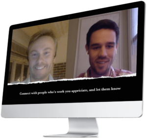 Niels Reib and Matt Ragland talking about networking and connecting with influencers.